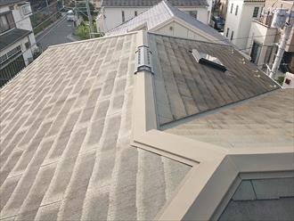 勾配が緩く水はけが悪い屋根