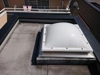 陸屋根にはシート防水が施されておりました