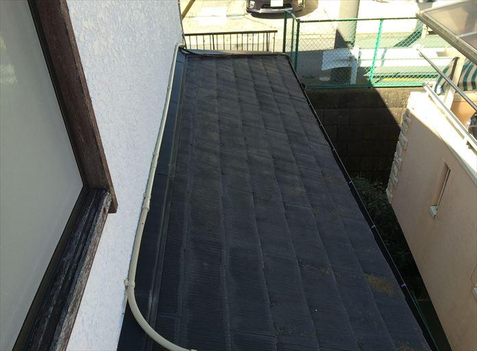 葉山町一色でスレート屋根の調査