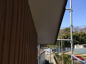 軒天板金張り工事