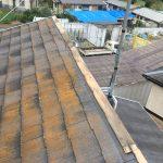 令和元年房総半島台風の影響で棟が飛散してしまった片流れ屋根