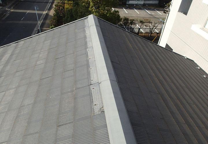 令和元年房総半島台風でスレートが数枚飛散してしまった屋根