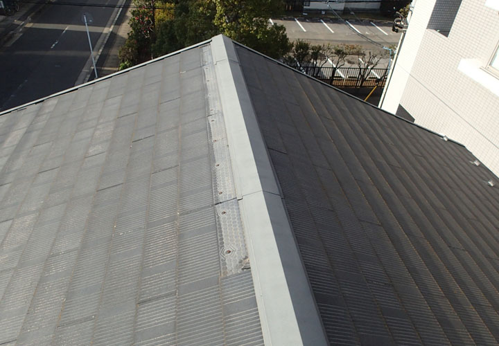 令和元年房総半島台風でスレートが飛散してしまった屋根