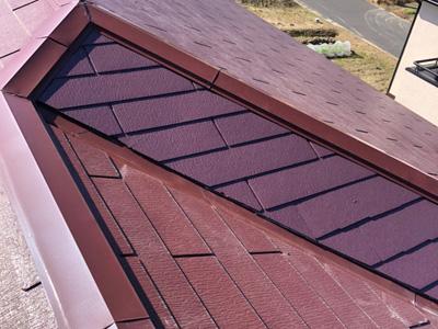 差し替えで復旧したスレート屋根
