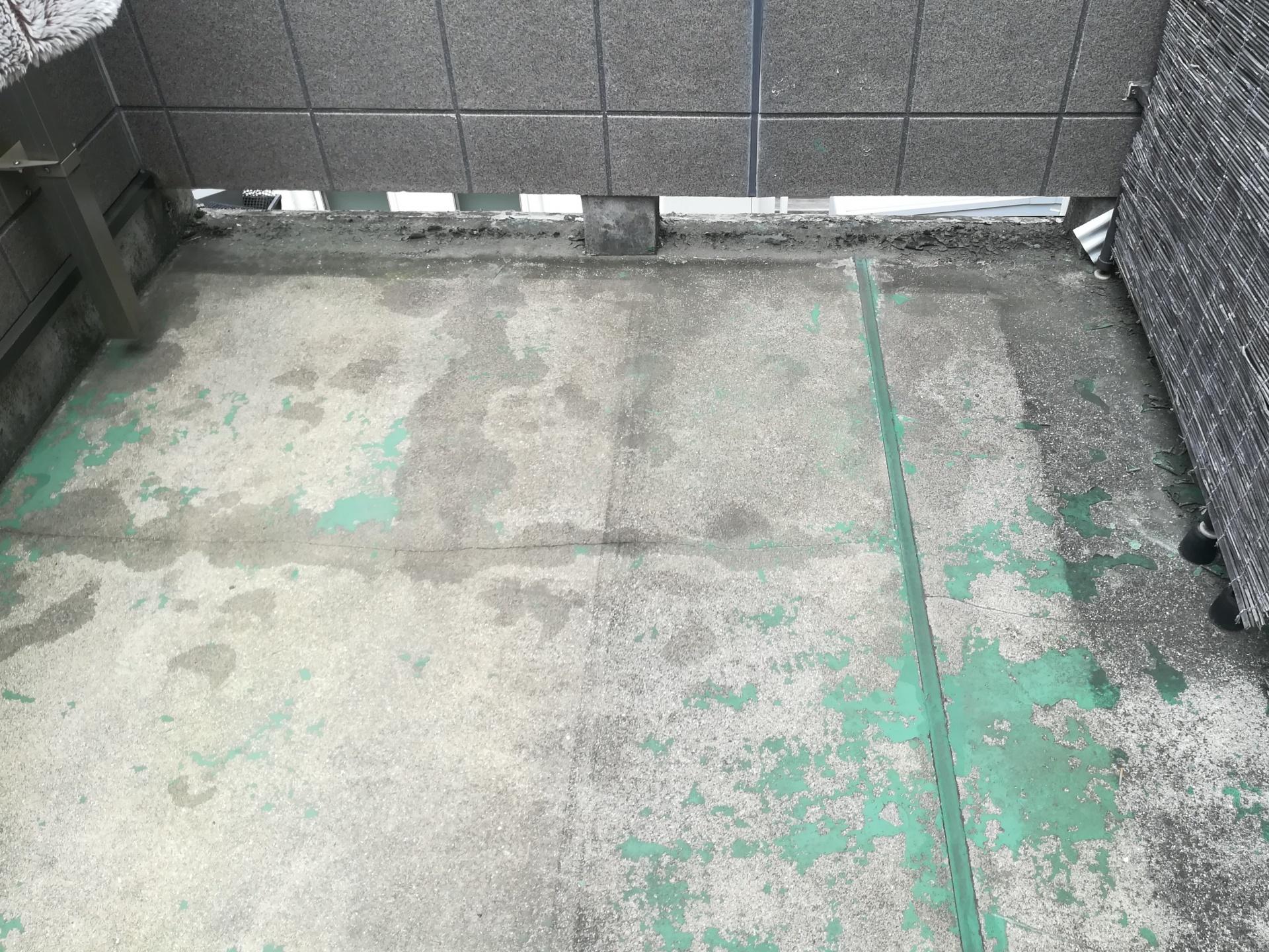 川崎市多摩区布田にてウレタン防水通気緩衝工法にてベランダ防水工事