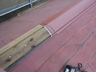棟板金交換時には貫板も交換します