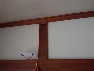 室内天井への雨漏り