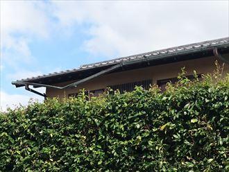 台風被害による雨樋修理