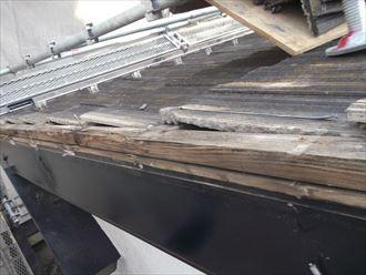 ケラバの下地木材腐食