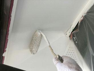 軒天の塗装工事