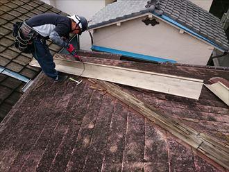 足場がない屋根補修工事