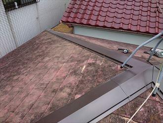 緩勾配屋根の補修工事