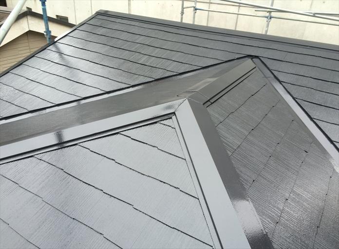 サーモアイ4Fのスレート屋根塗装完成