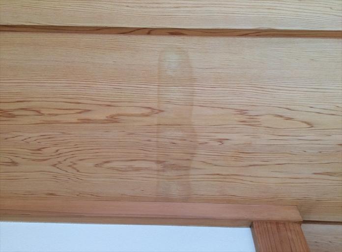 和室の天井から雨漏り