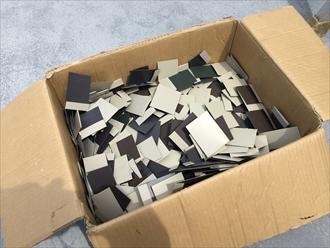 新しく制作した板金屋根材を固定するための部材