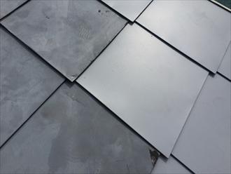 既存と同じ形に制作した板金屋根材を固定して既存と遜色ない仕上がり