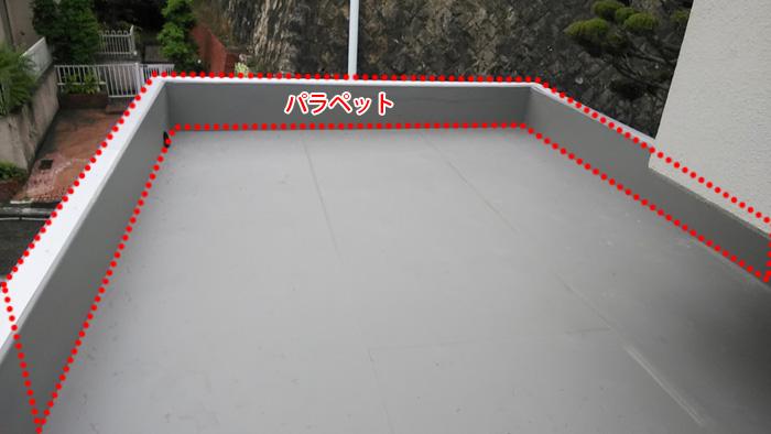 陸屋根のパラペット