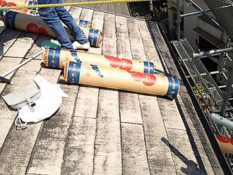 粘着層ルーフィング 屋根材の上から設置