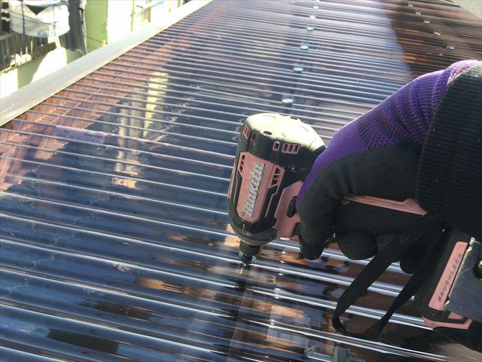 テラス屋根をdiyで修理