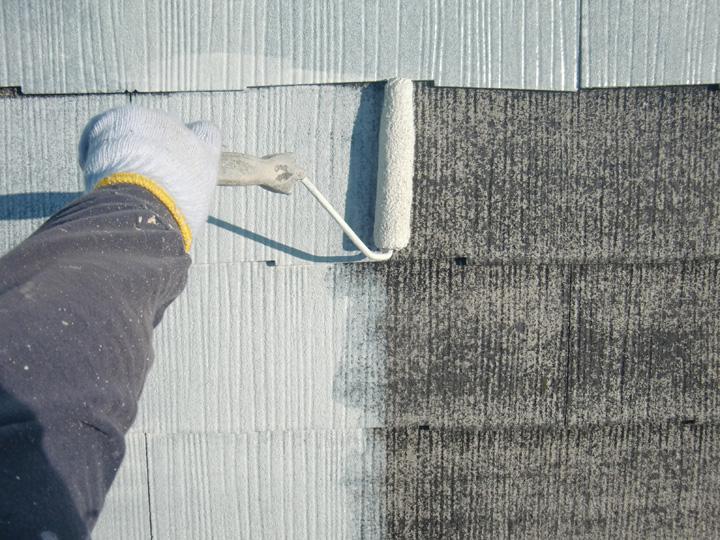 下塗り塗装の様子
