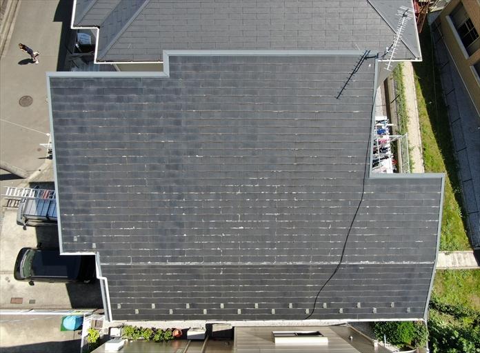ドローンを使用して屋根を調査出来ます