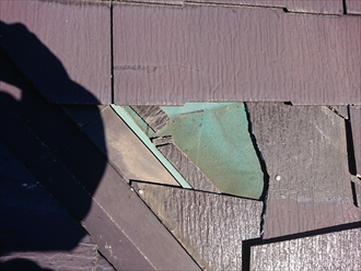 藤沢市湘南台にて塗装でのメンテナンスが無駄になってしまう化粧スレートの調査を致しました