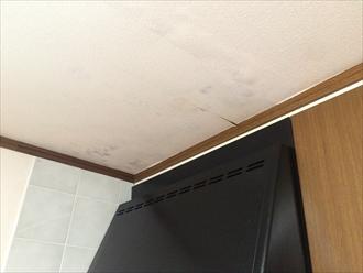 キッチンの天井から雨漏り