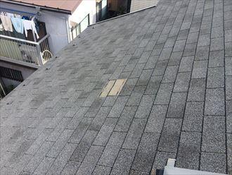 藤沢市柄沢で令和元年房総半島台風と令和元年東日本台風の被害、破損した屋根面を部分的に葺き替えます
