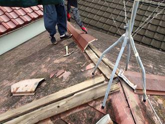 棟板金交換に使用されるガルバリウム鋼板