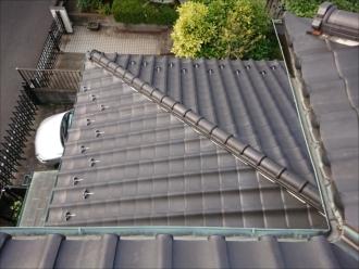 下屋根もあり、雨樋は銅製