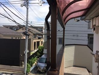 テラス屋根やカーポートの樋が破損