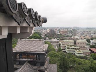 平瓦が使われている熊本城