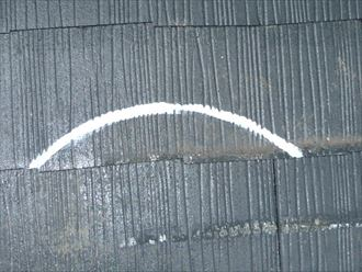 スレートのシーリング補修