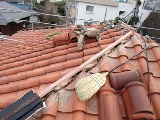 乾式工法による棟取り直し工事