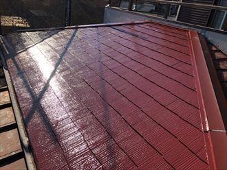 屋根塗装工事の完成