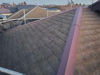 棟板金交換工事(災害復旧工事)後の屋根