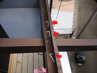 横浜市神奈川区神大寺にて令和元年房総半島台風の影響でベランダのポリカ波板が飛散してしまっておりました