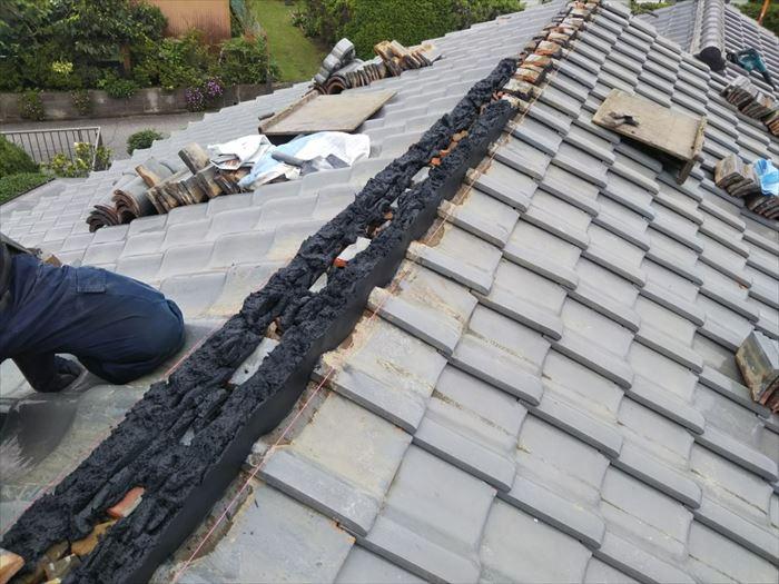 棟取り直し工事・湿式工法