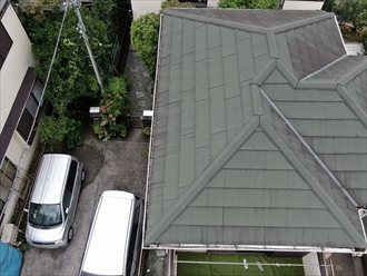 梯子を架けられなくてもドローンがあれば屋根は調査可能