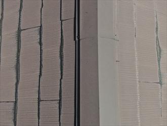 棟板金内部の貫板が傷んでいる