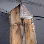 貫板の腐食は棟板金の飛散に繋がる