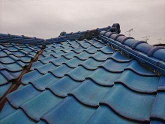 青緑瓦が使用されている瓦屋根の強風被害