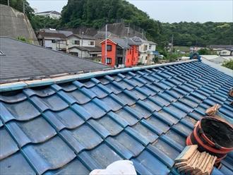 シルガードを使用した瓦屋根工事