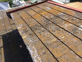 スレート屋根が傷み過ぎ