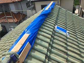 令和元年房総半島台風によって被災してしまったセメント瓦