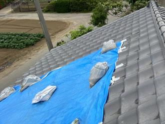 台風19号で被災した屋根瓦