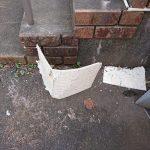 玄関に落ちていた天井仕上げ材