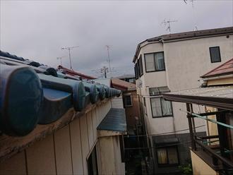 残った雨樋も飛散する可能性有