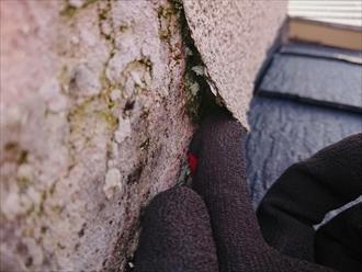 このままでは外装材が剥がれてしまい下地木が全て腐食してしまう可能性がございました