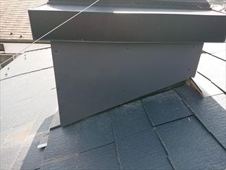 新しく下地を設けガルバリウム鋼板を被せ雨漏りを遮断